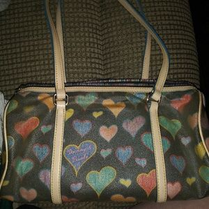 "DOONEY & BOURKE ""Crayon Hearts"" Barrel bag"